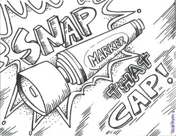 SNAP that Cap! color sheet