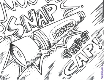 SNAP that Cap! color sheet
