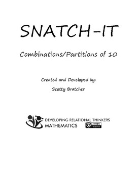 SNATCH-IT Combinations/Partitions to 10