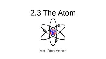 SNC1D 2.3 The Atom