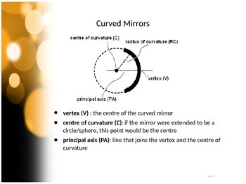 SNC2P - Optics - Curved Mirrors