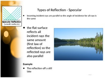 SNC2P - Optics - Laws of Reflection