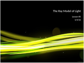 SNC2P - Optics - Ray Model of Light