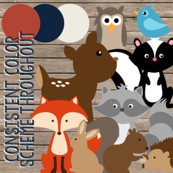 {FREEBIE} Rustic Woodland Animals Classroom Decor Set Sampler