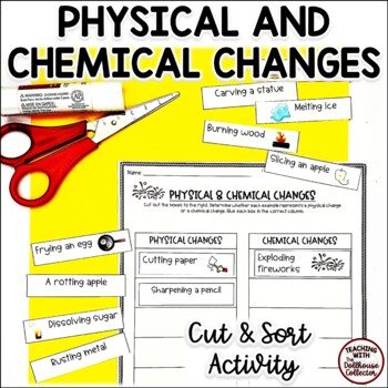 SNIP*SORT*STICK: PHYSICAL & CHEMICAL CHANGES Cut and Sort Activity