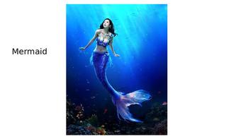 SNL Mermaid Fishermen Pirate FUN ESL Activity Vocabulary Powerpoint & Video