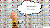 SNOOPY THEMED CLASSROOM LABELS (EDITABLE)