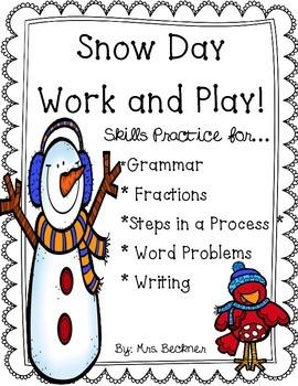 SNOW DAY Workbook!