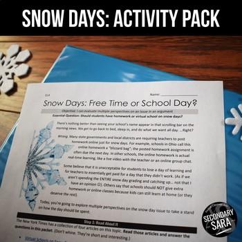 SNOW DAYS: An ELA Non-Fiction Mini-Unit