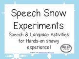 SNOW EXPERIMENTS FREEBIE!