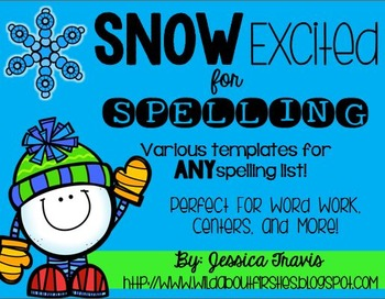 SNOW Excited for Spelling {Spelling Activities for ANY List!} *freebie*