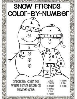SNOW FRIENDS COLOR BY NUMBER