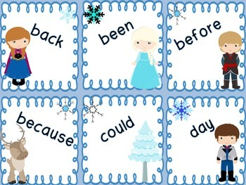 SNOW MUCH FUN! First Grade Sight Word Game