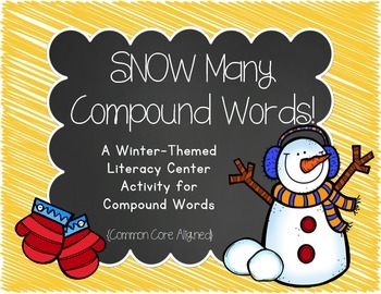 SNOW Many Compound Words {A Compound Word Match/Memory & W
