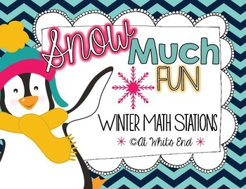 SNOW Much Fun: Six Winter Math Stations {Common Core Aligned} Math Printables