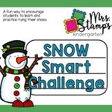 Shoe Tying:  Snowman Challenge
