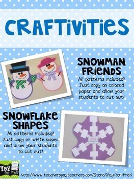 Winter Activities for Preschool, Prek, and K: SNOW WEEK!