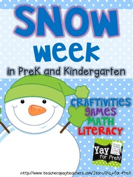 Winter Activities for Preschool, Prek, and K: SNOW WEEK!