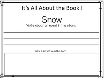 SNOW   by Uri Shulevitz 41 pgs Common Core Activities