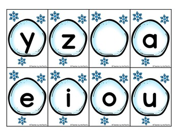 SNOWBALL ABCs: Alphabet Cards – Lowercase and Uppercase Letters