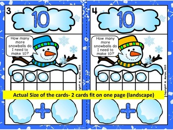 SNOWBALL SUMS- WINTER MATH CENTRE ACTIVITIES- ADDITION TO 20