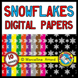 WINTER CLIPART (SNOWFLAKES DIGITAL PAPER BACKGROUNDS)