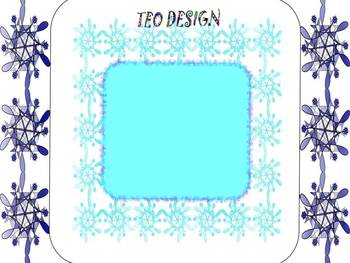 SNOWFLAKES - Frames - Writing paper - Clip Art - Winter