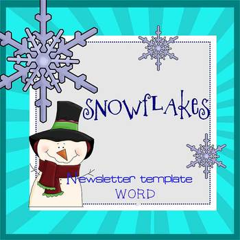 SNOWFLAKES - Newsletter Template WORD