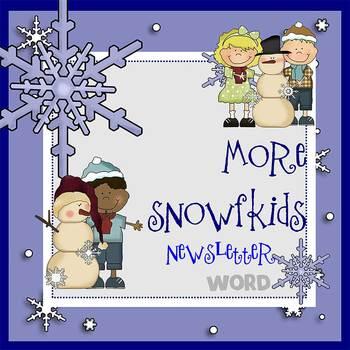MORE SNOWKIDS- Newsletter Template WORD
