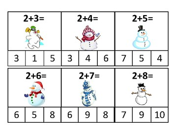 SNOWMAN ADDING PIN CARDS