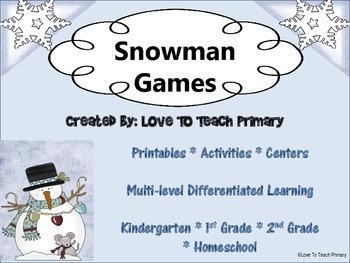 SNOWMAN BUNDLE: Snowman Games and Snowman Math