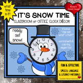 SNOWMAN CLOCK ROOM DECOR WINTER Speech Therapy classroom teacher