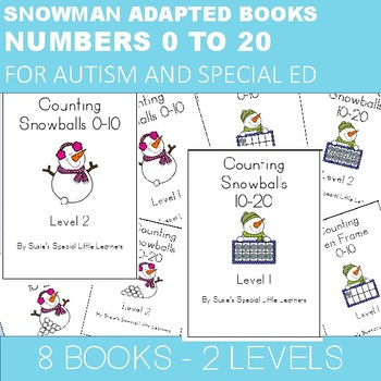 NUMBERS 1-20 ADAPTED BOOKS  FOR AUTISM and special ed