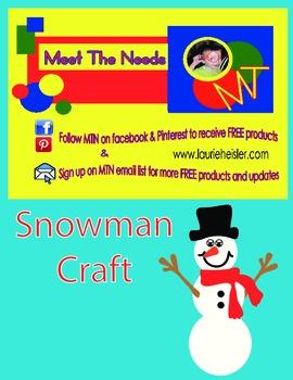 SNOWMAN Construction Paper Craft