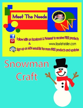 SNOWMAN Construction Paper Craft