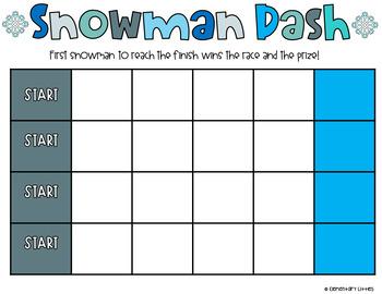 SNOWMAN DASH-CLASSROOM MANAGEMENT