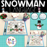SNOWMAN LANGUAGE ACTIVITY MATS (HOLIDAY, CHRISTMAS, WINTER) SPEECH THERAPY