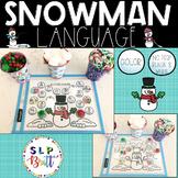 SNOWMAN LANGUAGE ACTIVITY MATS (HOLIDAY, CHRISTMAS, WINTER) SPEECH THERAPY