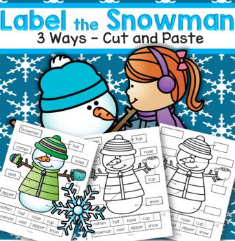 SNOWMAN Labels FREE
