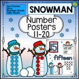 SNOWMAN Math - Numbers 11 - 20