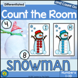 Count the Room – SNOWMAN Math – Ten Frames and Numbers 1 - 10