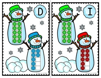WINTER - SNOWMAN Math - Count the Room – Ten Frames and Numbers 11 - 20