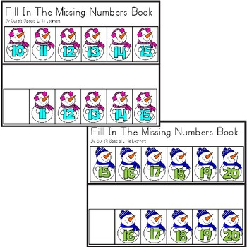 SNOWMAN ORDERING NUMBERS 1-20 ADAPTED BOOKS  FOR AUTISM