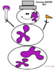 SNOWMAN SMOOSH Playdoh Mats Christmas/Winter (Play dough)