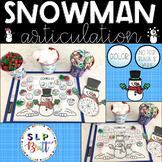 SNOWMAN SPEECH ACTIVITY MATS (ARTICULATION, CHRISTMAS, HOLIDAY, WINTER)
