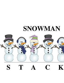 SNOWMAN STACK-O:  A Syllabication Game