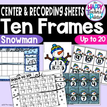 Snowman Ten Frames 0-20 ~Perfect for TARGET Mini-Erasers!
