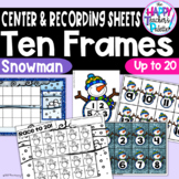 Snowman Ten Frames 0-20 ~Perfect for Mini-Erasers!