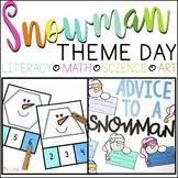 SNOWMAN Theme Day: Reading, Math, Science & Art