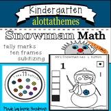 Winter SNOWMAN NUMBER activities -Math